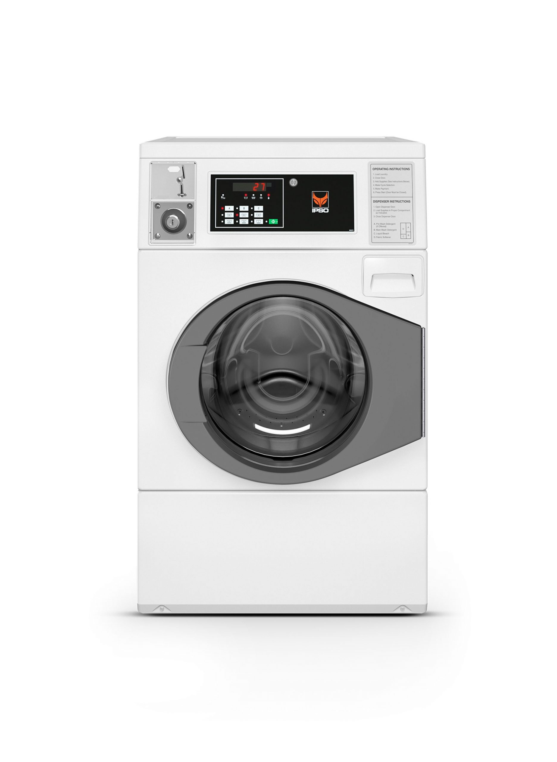 Ipso 10kg Coin Operated Front Load Washer Ipso Cw10c