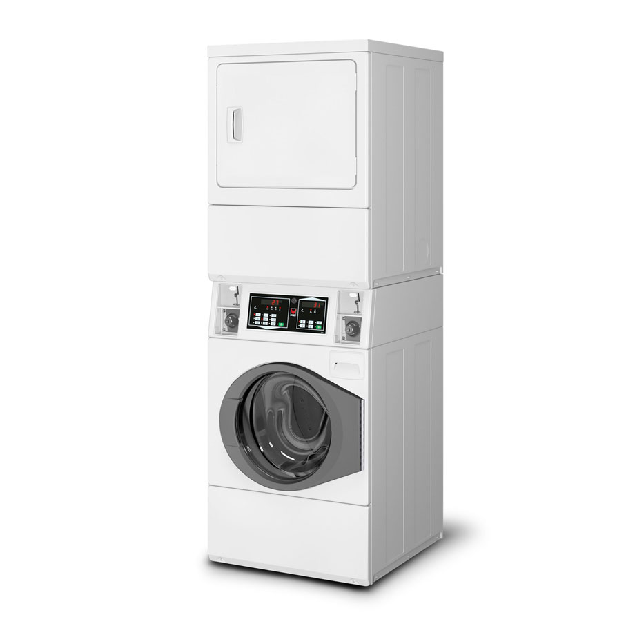 Ipso 10kg Coin Operated Stacked Washer Dryer Ipso Cs10c